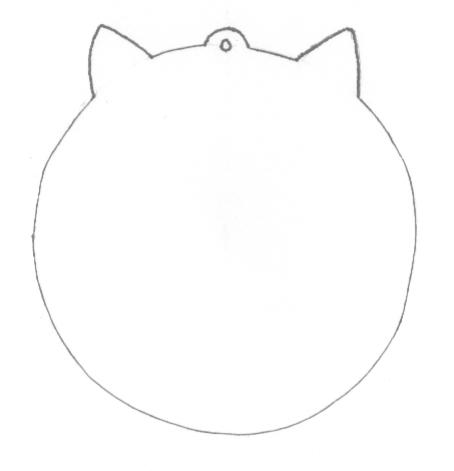 Cat necklace pattern